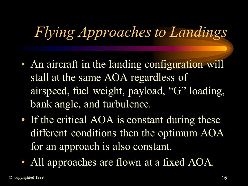 Flying Approaches to Landings