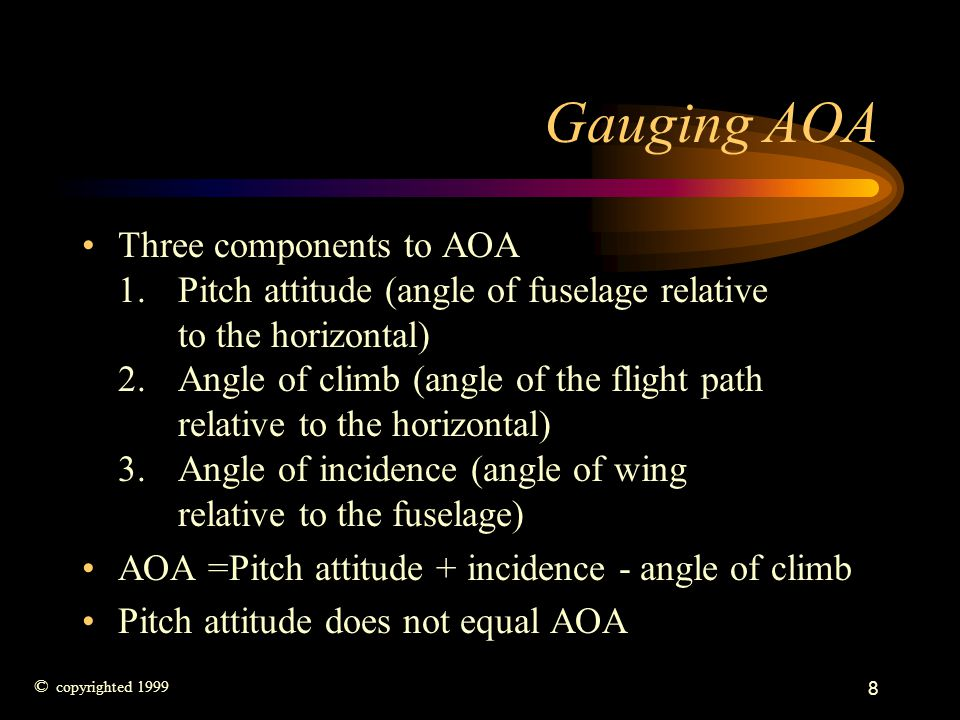 Gauging AOA