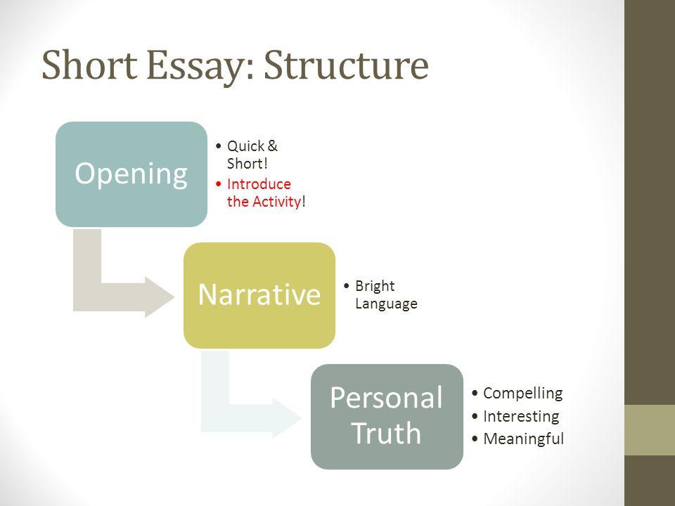 Short Essay: Structure
