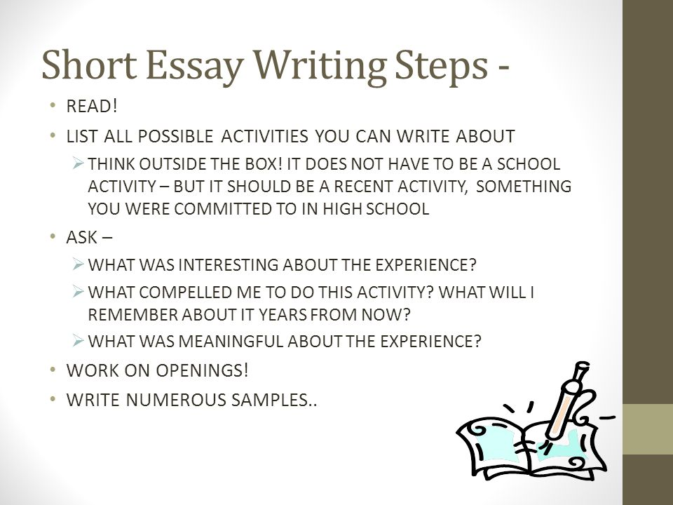 interesting opener essay The writer of the academic essay aims to persuade readers of an idea based on evidence the beginning of the essay is a crucial first step in this process in order to engage readers and establish your authority, the beginning of your essay has to accomplish certain business.