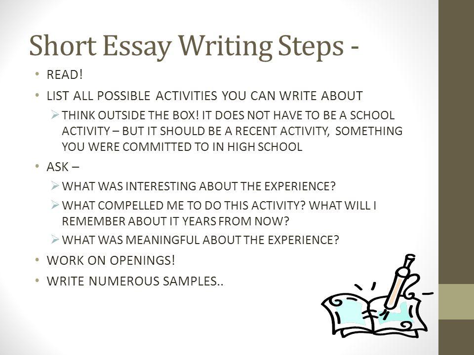 Short Essay Writing Steps -