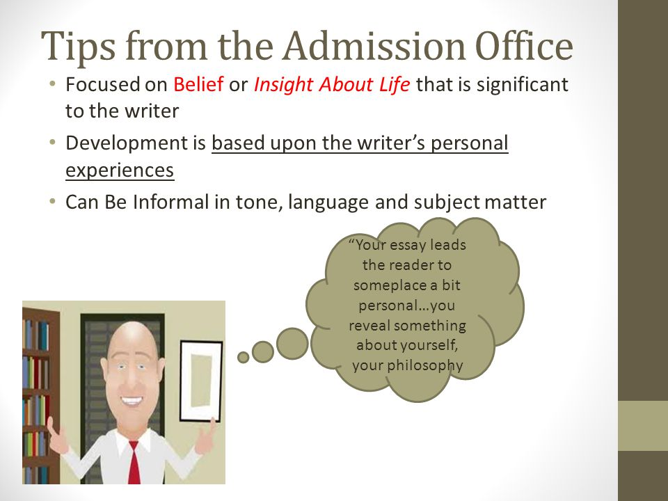 Tips from the Admission Office