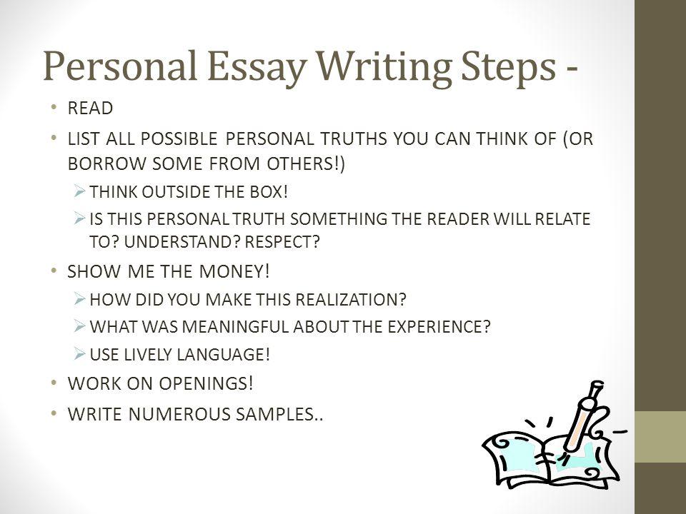 Personal Essay Writing Steps -