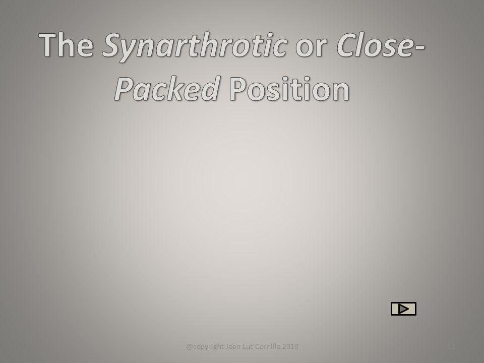 The Synarthrotic or Close-Packed Position