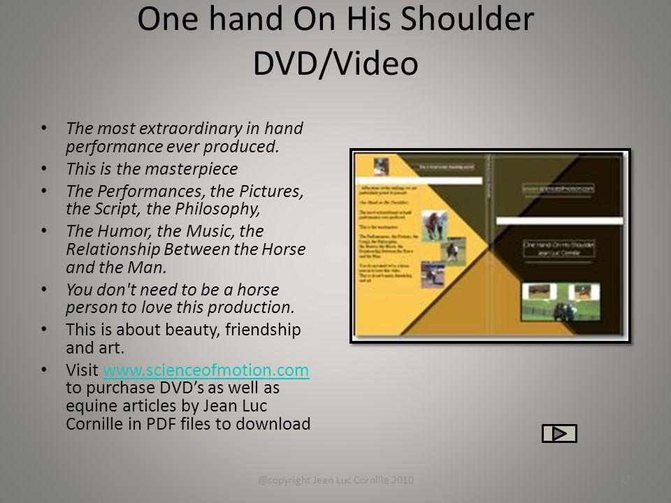 One hand On His Shoulder DVD/Video