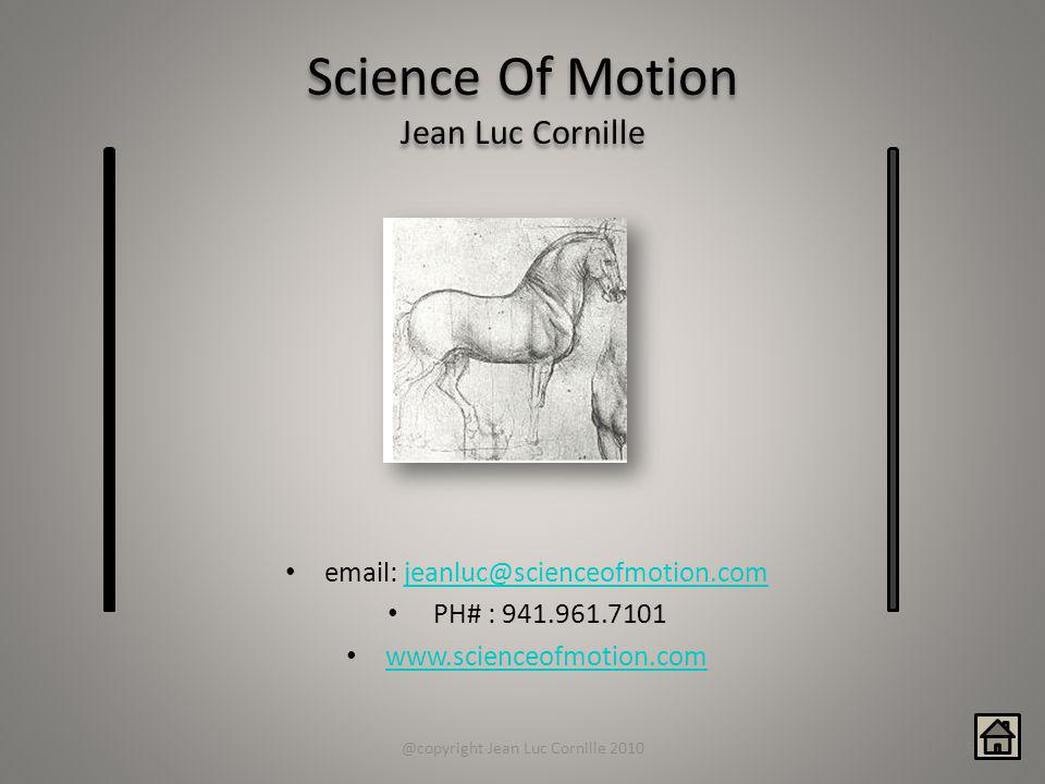 Science Of Motion Jean Luc Cornille