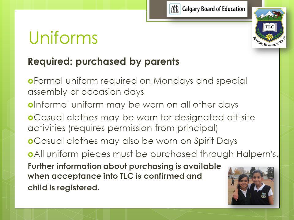 Uniforms: Girls K to 5-Formal K to 5- Informal