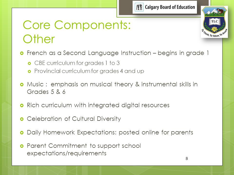 Core Components: Character Education
