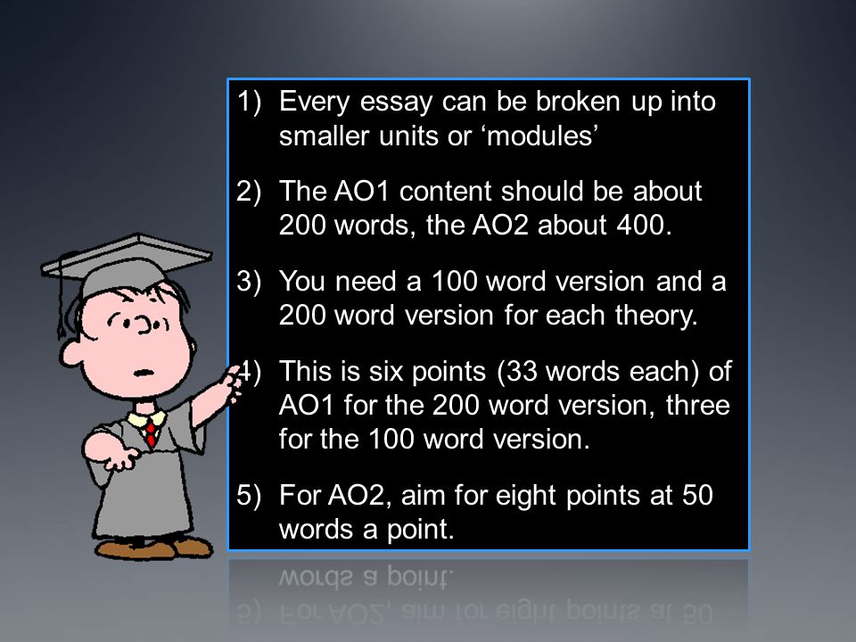 Every essay can be broken up into smaller units or 'modules'