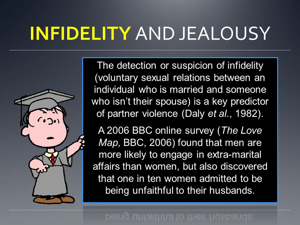 INFIDELITY AND JEALOUSY