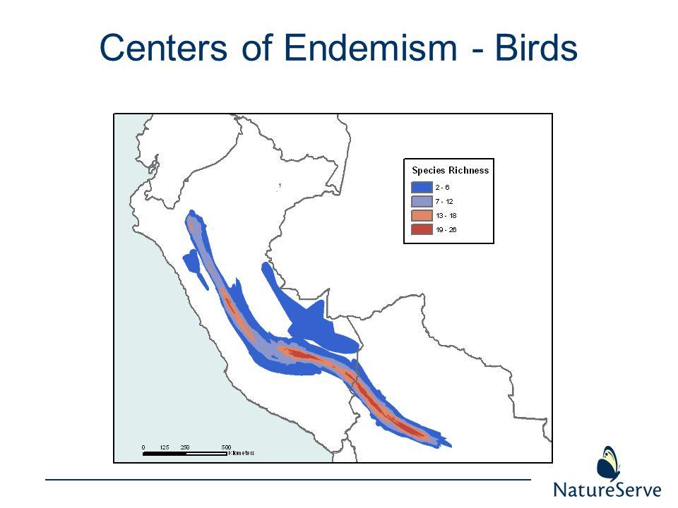 Centers of Endemism - Birds