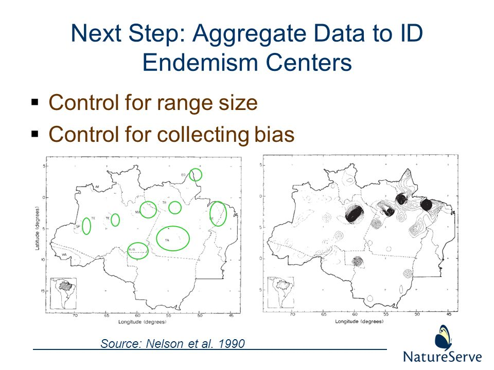 Next Step: Aggregate Data to ID Endemism Centers