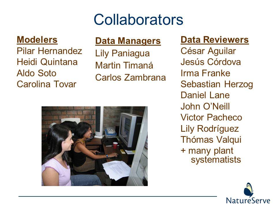 Collaborators Modelers Pilar Hernandez Heidi Quintana Aldo Soto