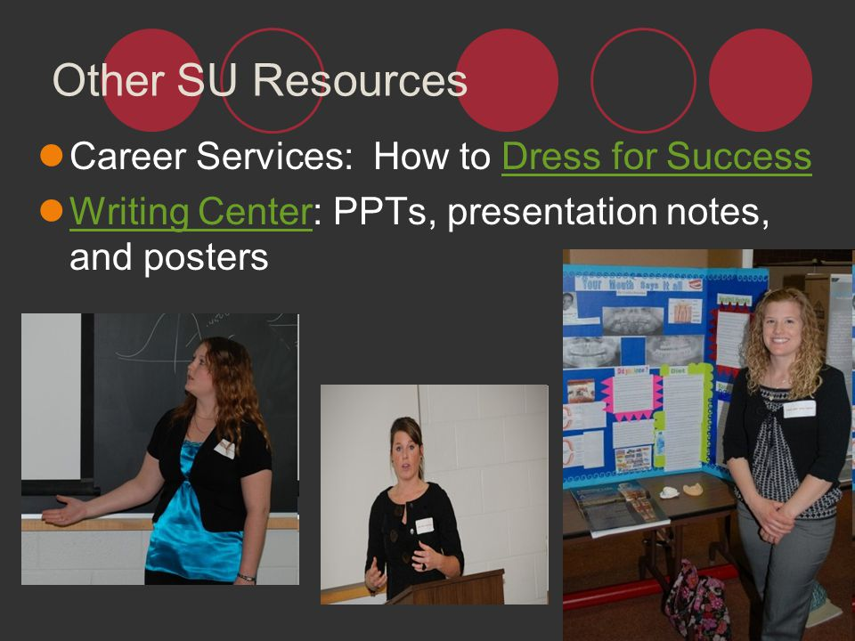 Other SU Resources Career Services: How to Dress for Success