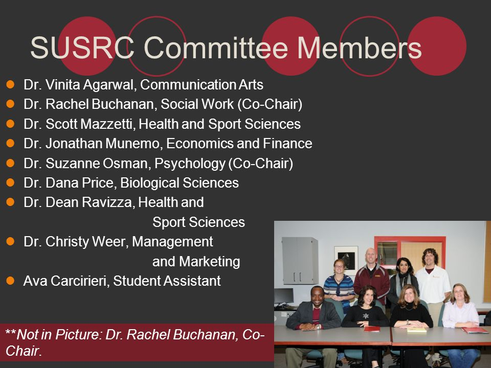 SUSRC Committee Members
