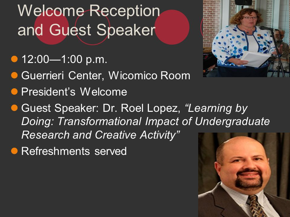 Welcome Reception and Guest Speaker