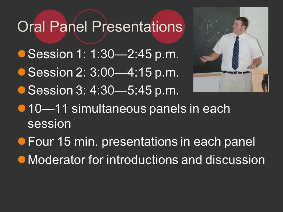 Oral Panel Presentations