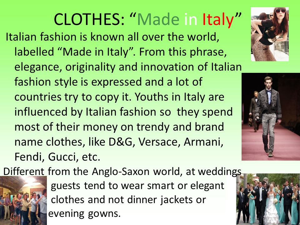 CLOTHES: Made in Italy