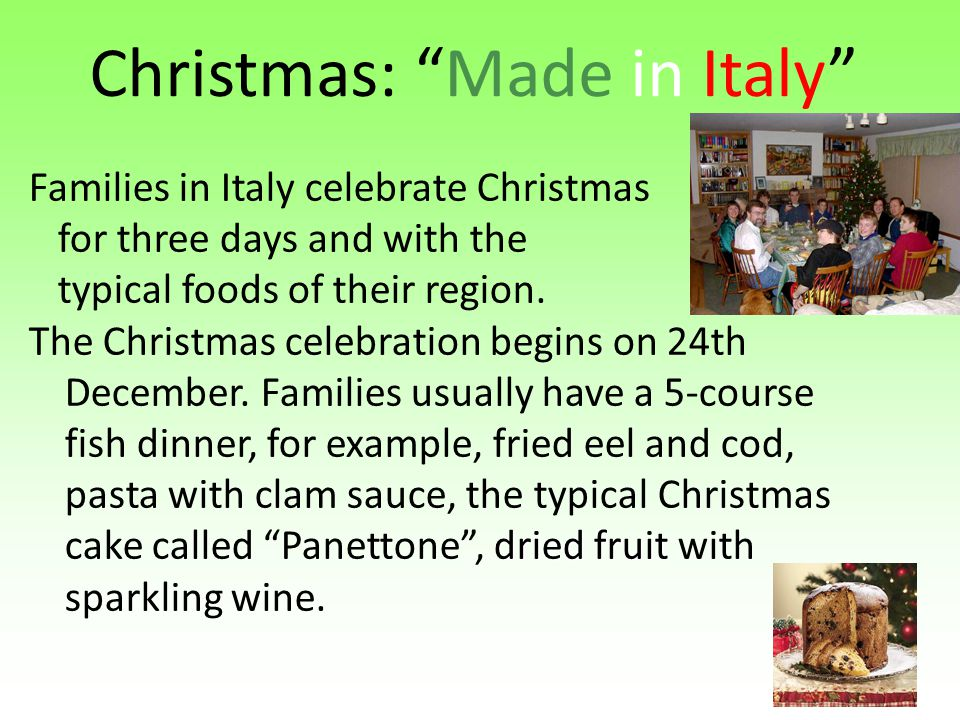 Christmas: Made in Italy