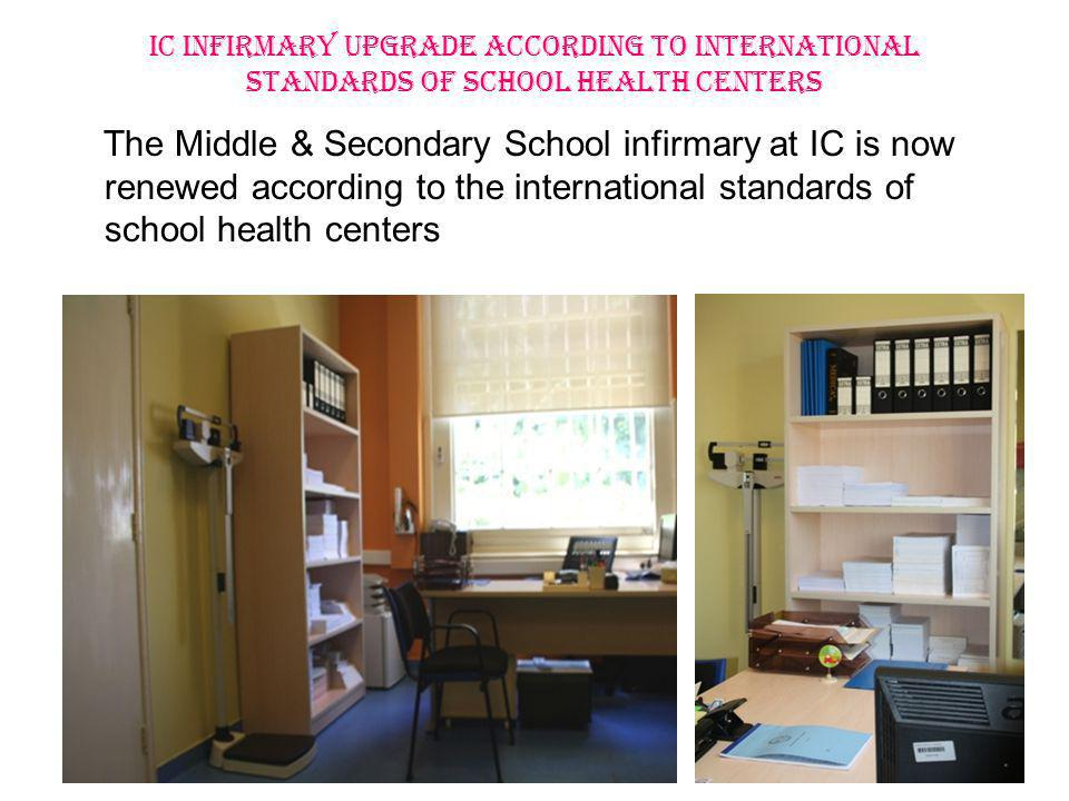 IC INFIRMARY UPGRADE ACCORDING TO INTERNATIONAL STANDARDS OF SCHOOL HEALTH CENTERS