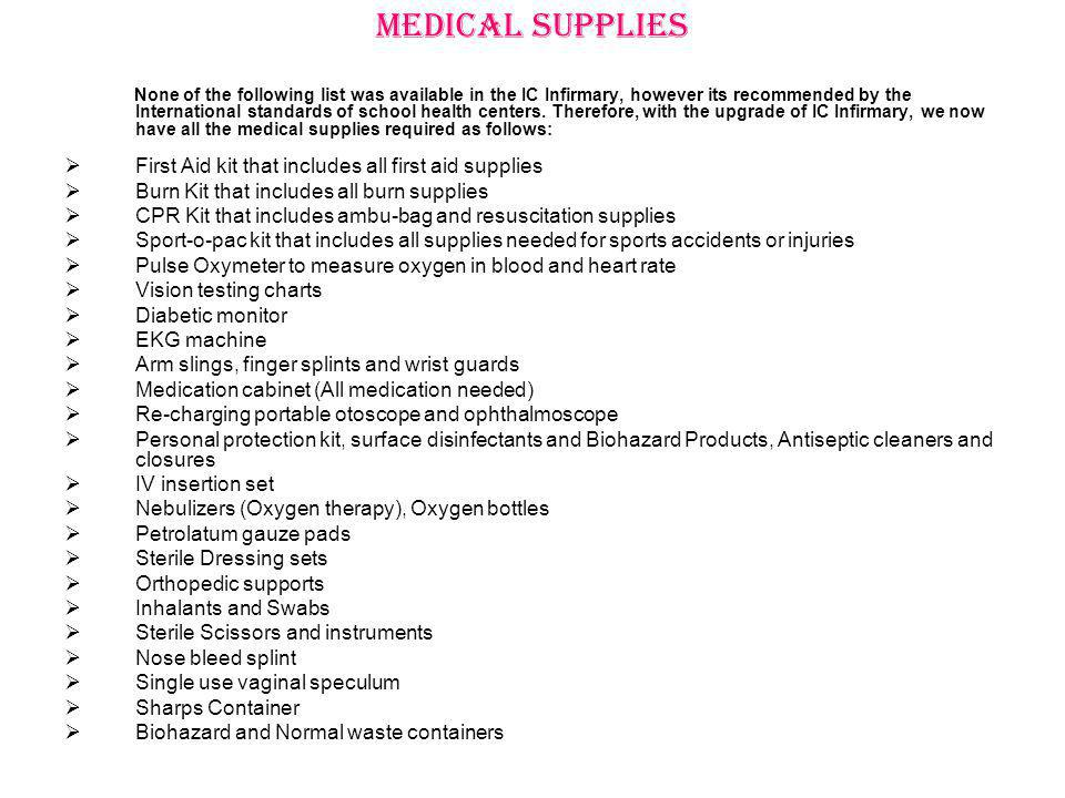 Medical Supplies First Aid kit that includes all first aid supplies