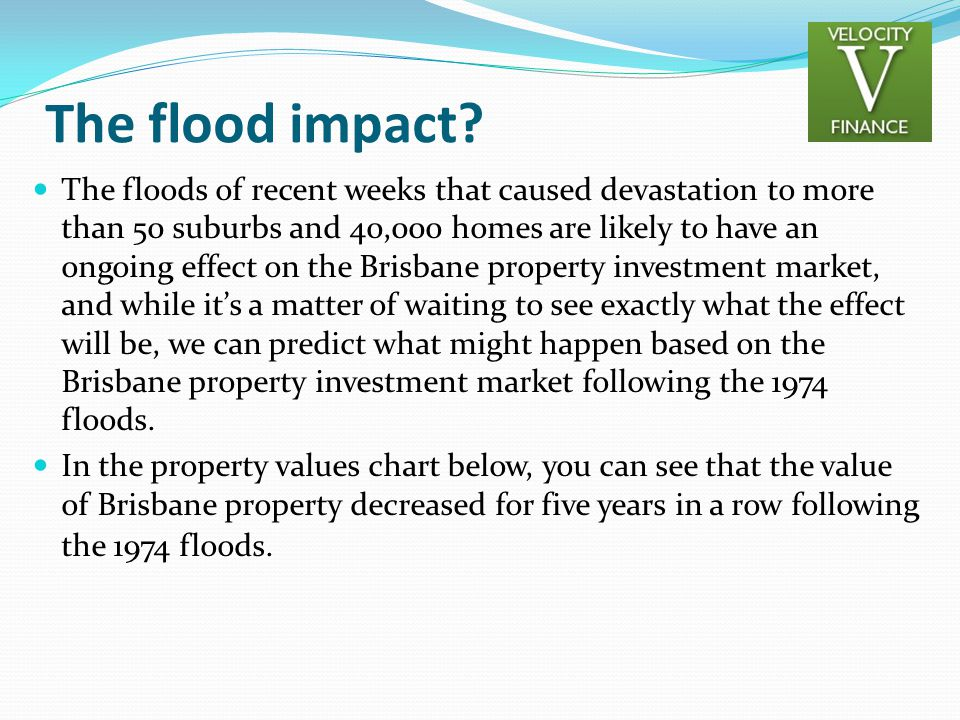 The flood impact