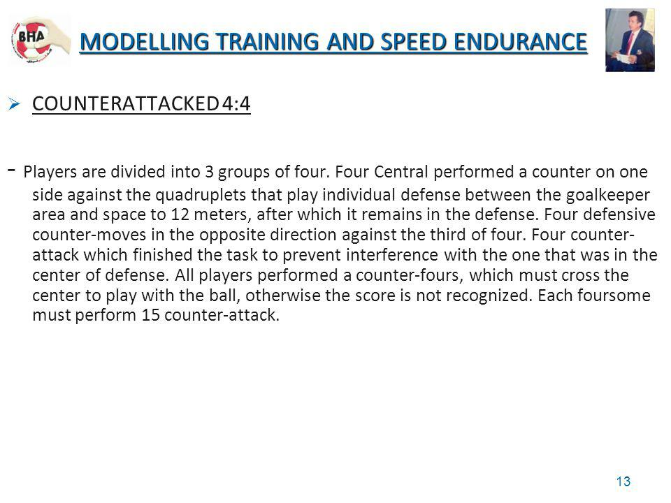 MODELLING TRAINING AND SPEED ENDURANCE