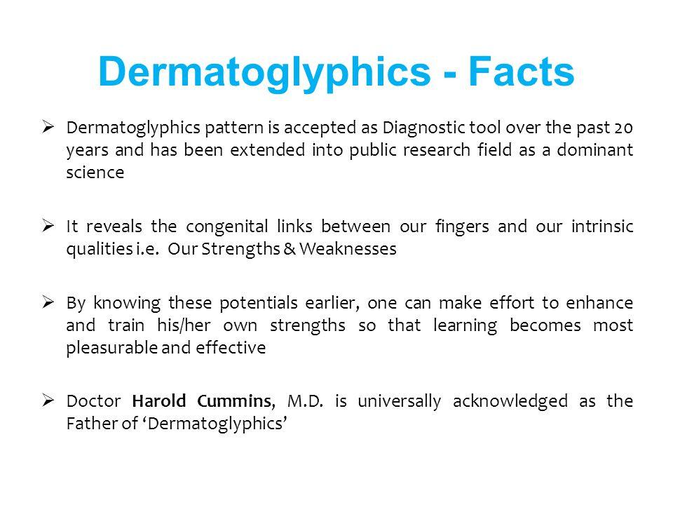 Dermatoglyphics - Facts