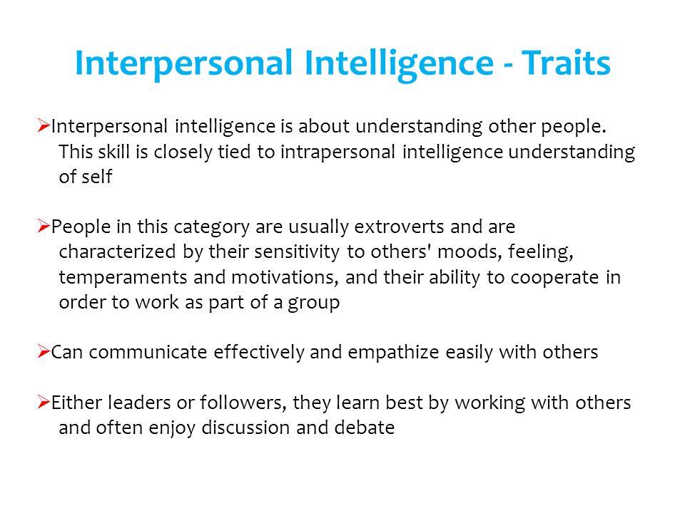 Interpersonal Intelligence - Traits