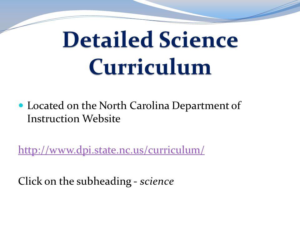 Detailed Science Curriculum