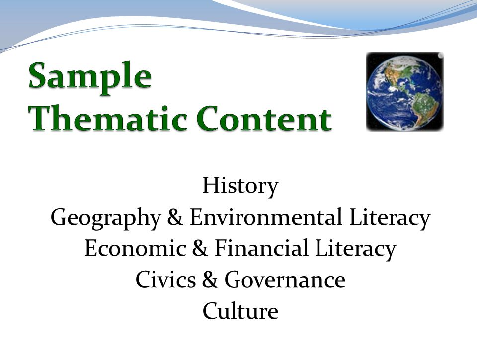 Sample Thematic Content