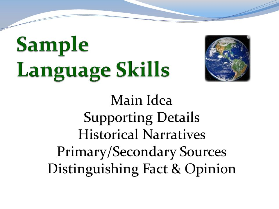 Sample Language Skills