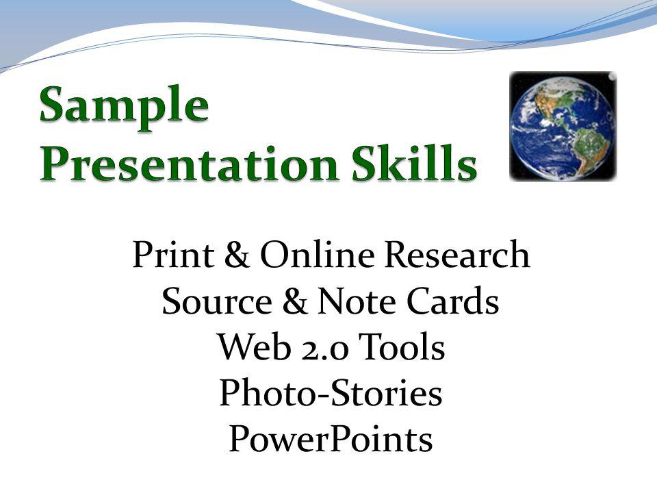 Sample Presentation Skills