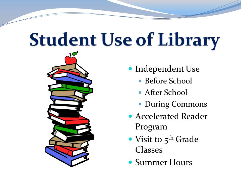Student Use of Library Independent Use Accelerated Reader Program
