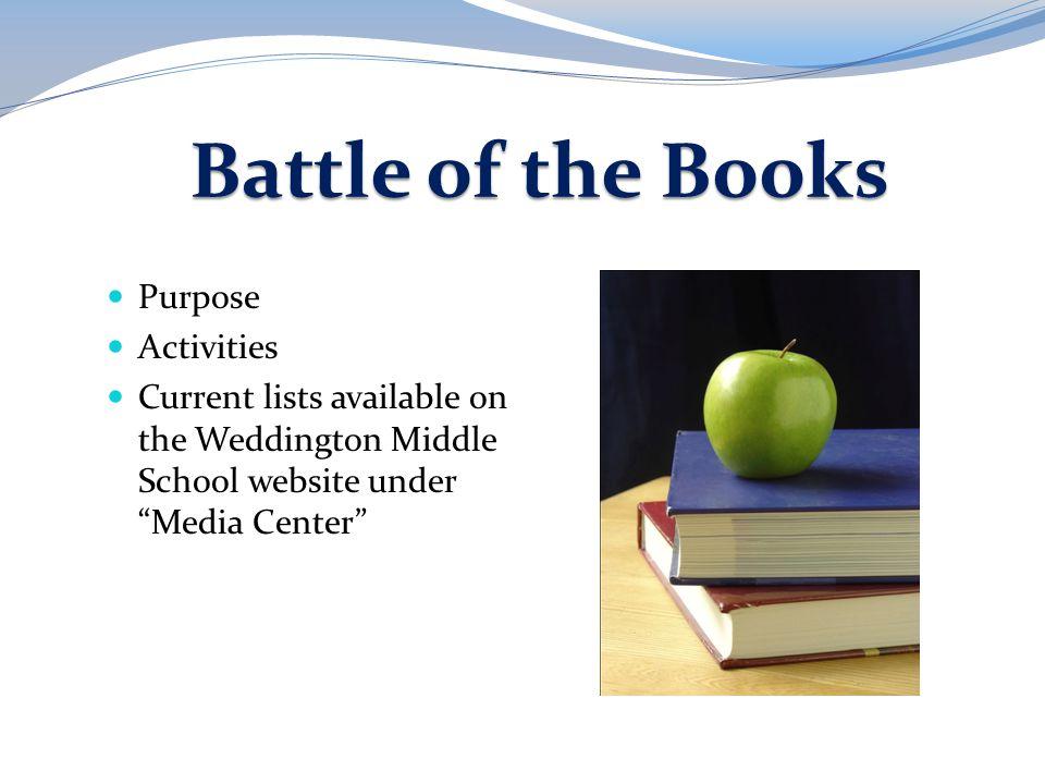 Battle of the Books Purpose Activities