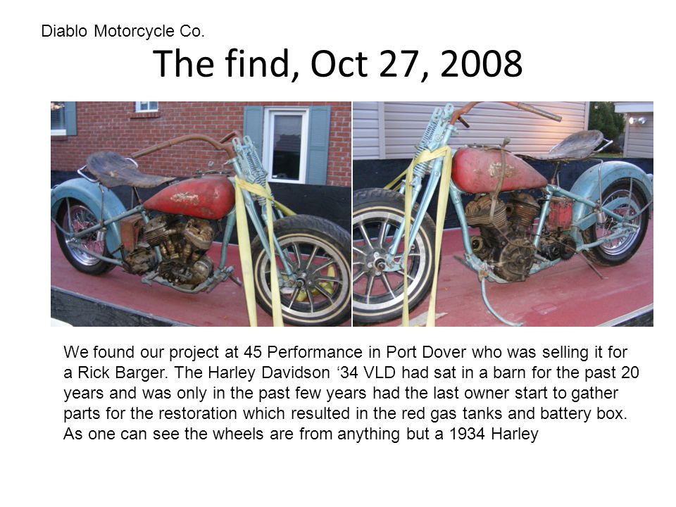 The find, Oct 27, 2008 Diablo Motorcycle Co.