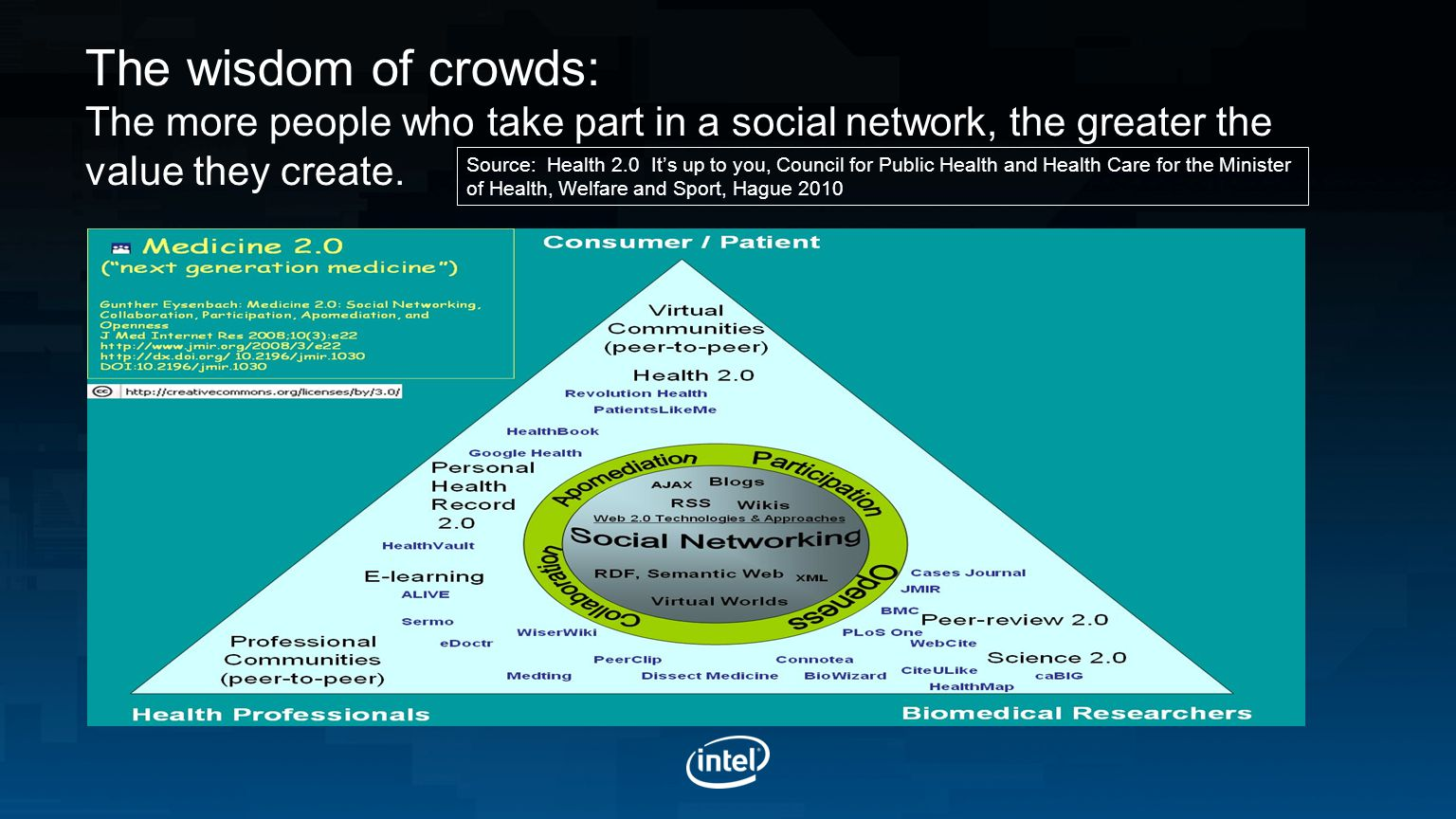The wisdom of crowds: The more people who take part in a social network, the greater the value they create.
