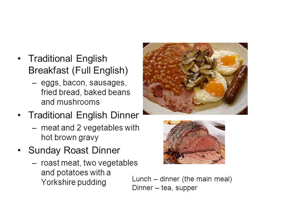 Food Traditional English Breakfast (Full English)