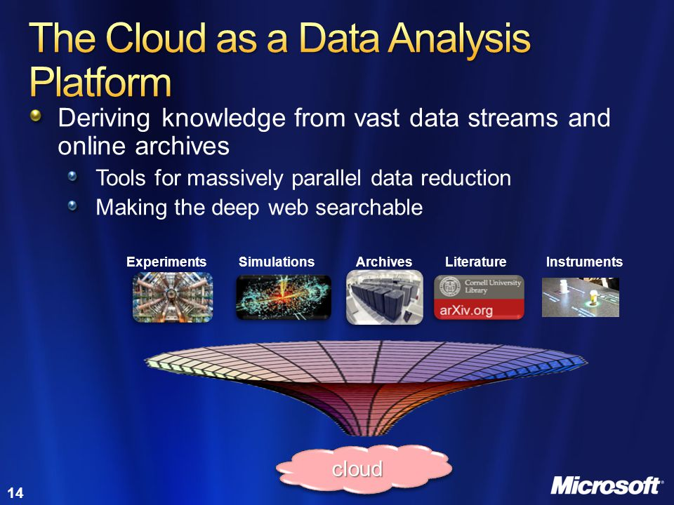 The Cloud as a Data Analysis Platform