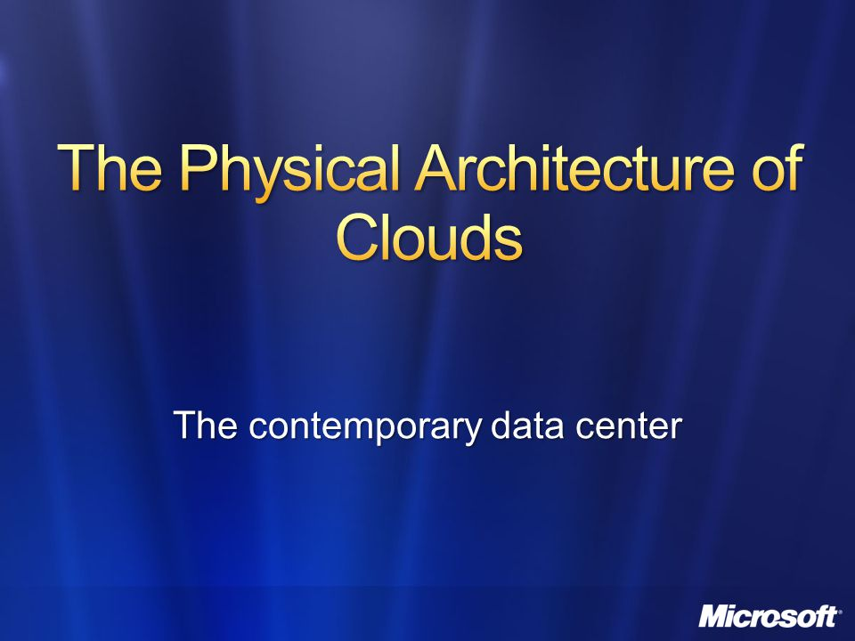 The Physical Architecture of Clouds