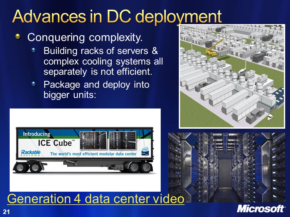 Advances in DC deployment