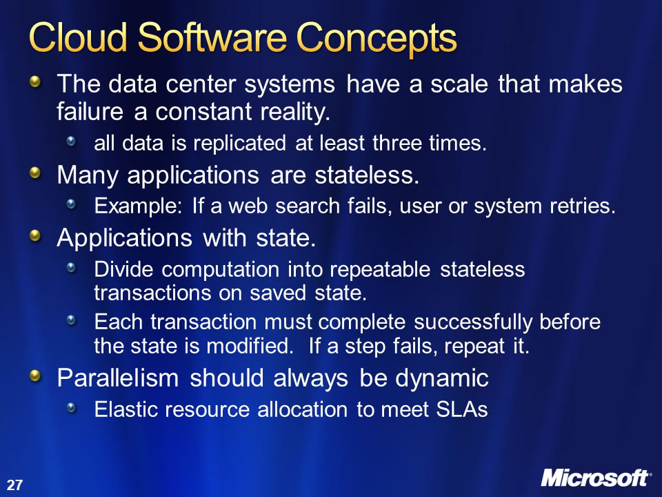 Cloud Software Concepts