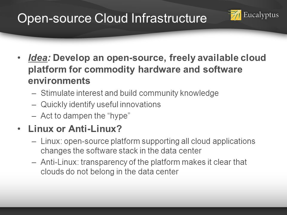 Open-source Cloud Infrastructure