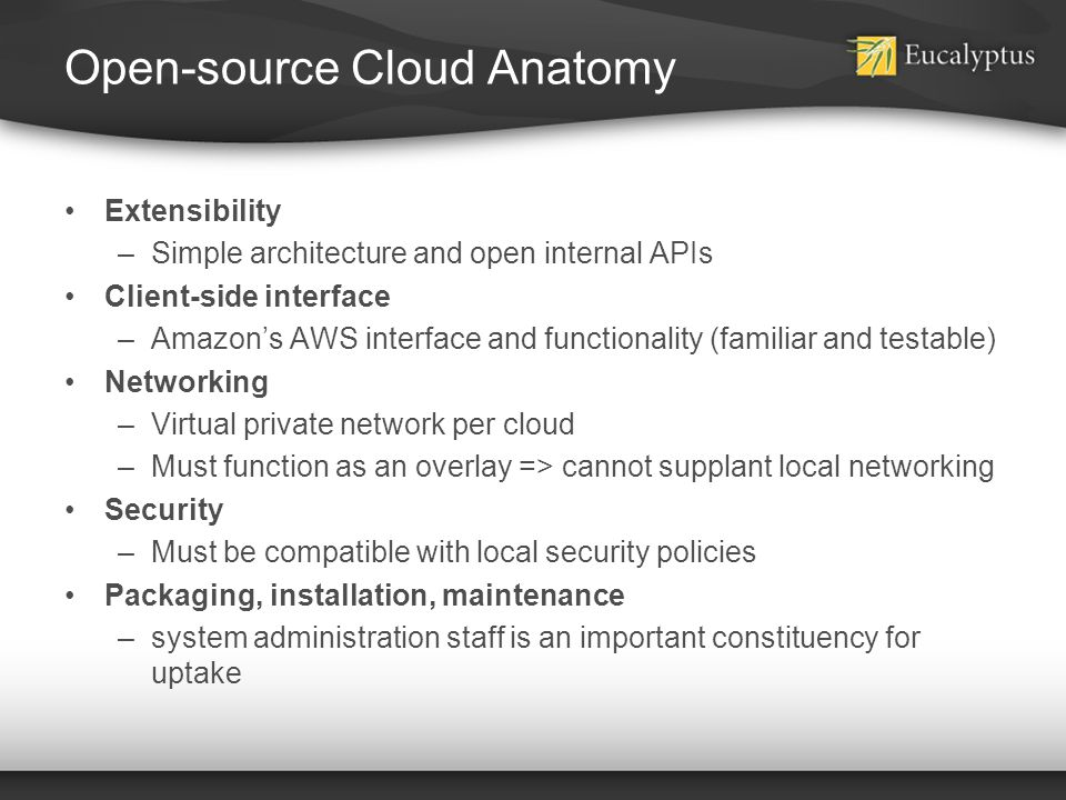 Open-source Cloud Anatomy