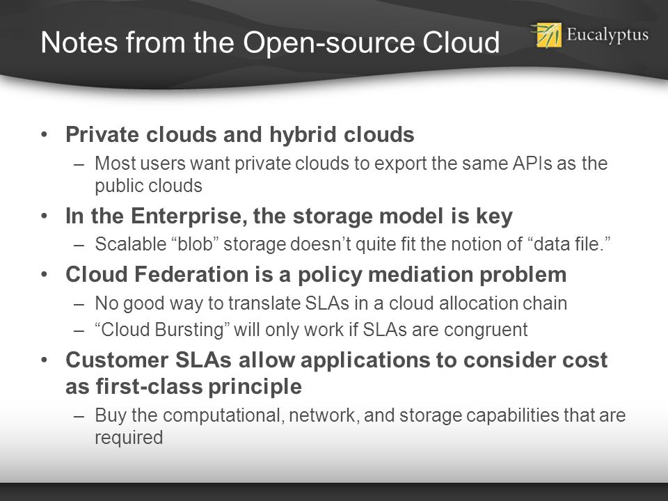 Notes from the Open-source Cloud