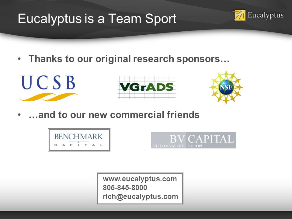 Eucalyptus is a Team Sport