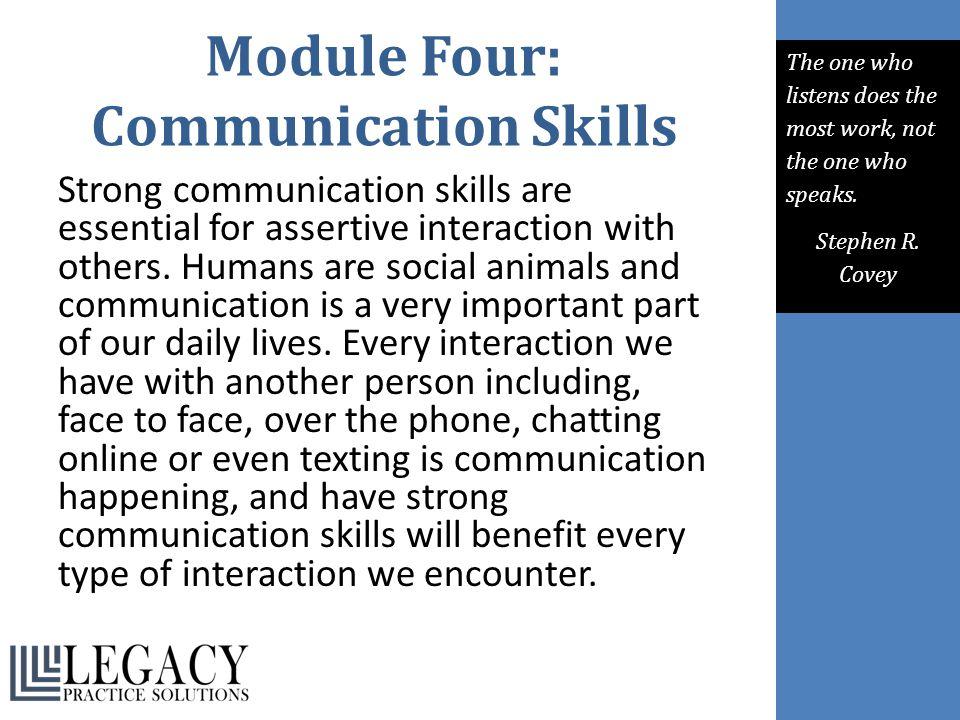 Module Four: Communication Skills