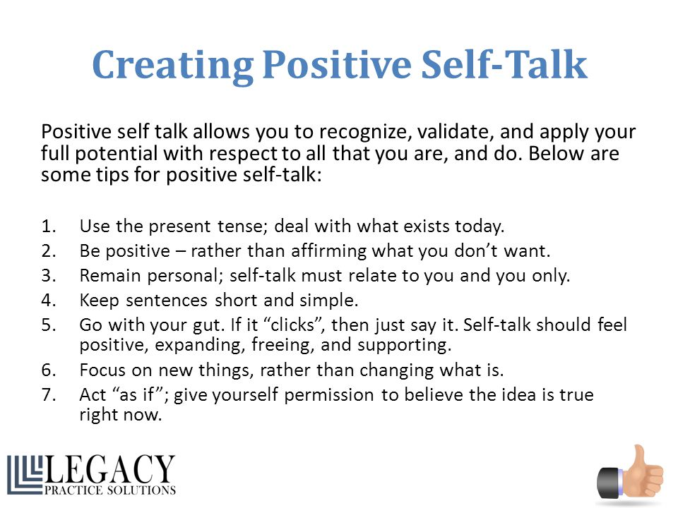 Positive Self Talk - Everyday Speech - Everyday Speech