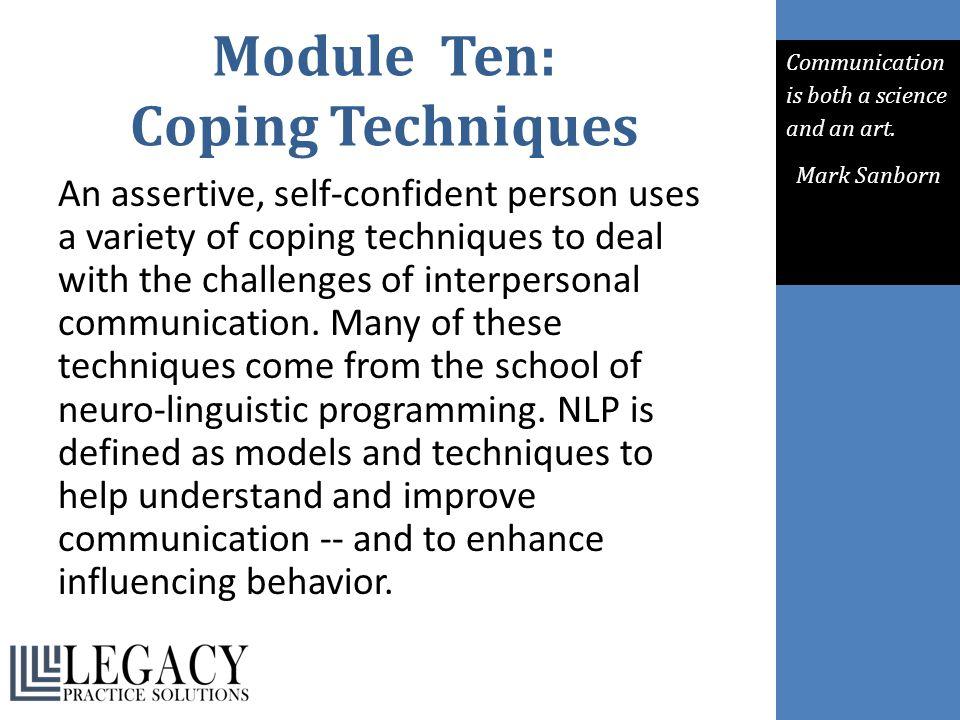 Module Ten: Coping Techniques