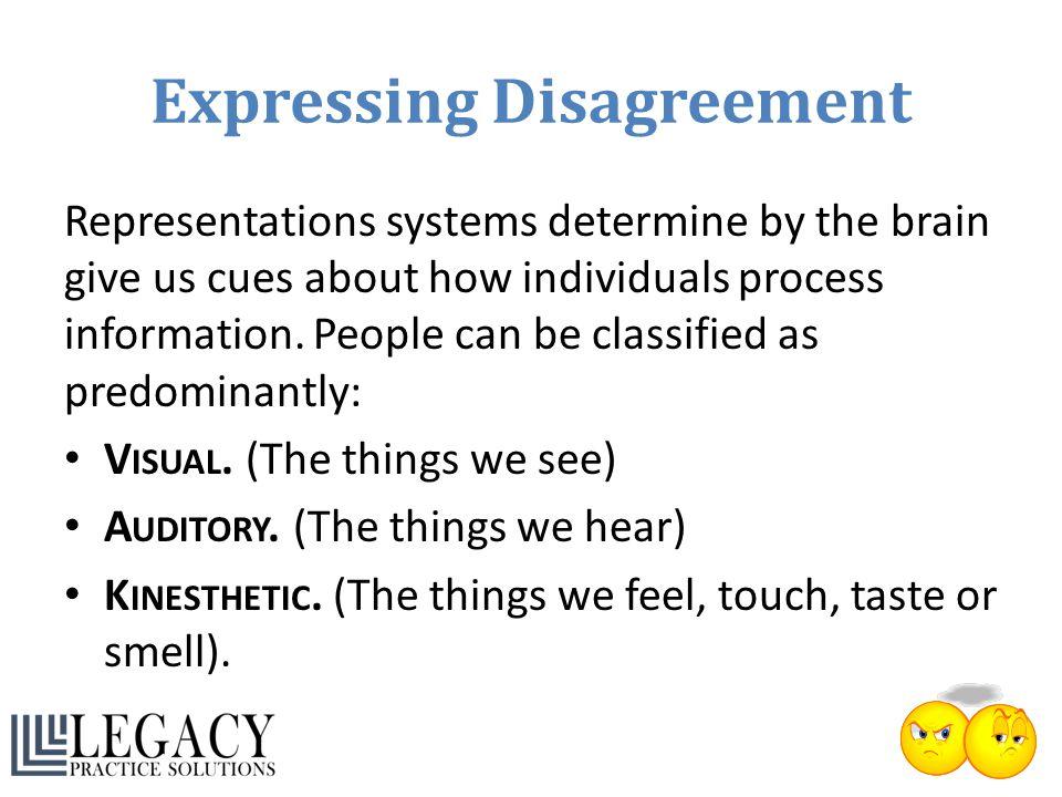 Expressing Disagreement